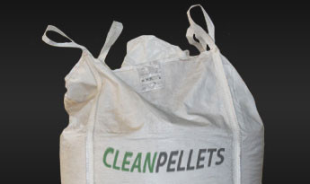 Clean Pellets 8 mm i 1000 kg big-bags